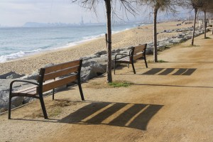 Els bancs del passeig